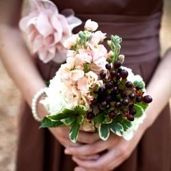 Свадебное оформление в кофейном цвете.